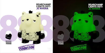 New York Comic Con 2019 Exclusive The Bearchamp Lights Out! Edition Vinyl Figure by JC Rivera x UVD Toys x myplasticheart