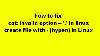 how to fix cat: invalid option -- '.'