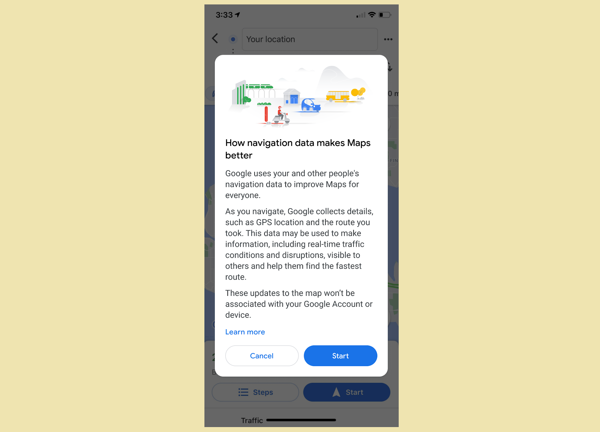 Google Maps Notifies Users Their Data Can Help It In Improving Its Navigation Services