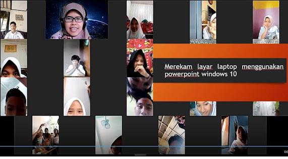 Merekam layar laptop menggunakan Power Point