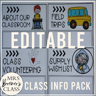 This pack includes 17 editable class information package forms to provide information to parents and students. They can be used to create a booklet to hand out during back to school season. Use any pages you wish! Simply combine the pages to create your information pack. #classroom #backtoschool #classroomsetup