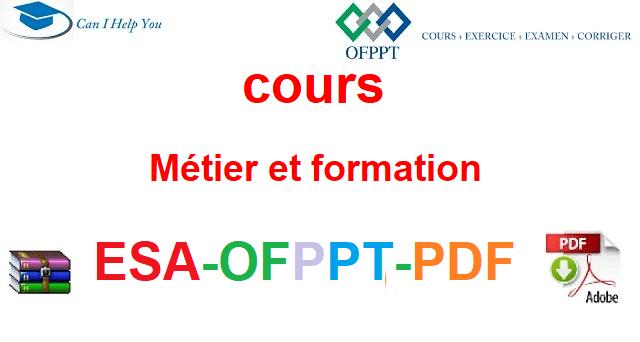Métier et formation  Électromécanique des Systèmes Automatisées-ESA-OFPPT-PDF