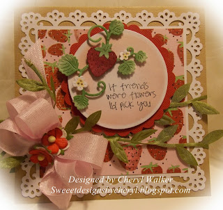 Image result for cards made using Cottage Cutz strawberry