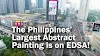 LOOK! The Philippines' Largest Abstract Painting is on a Spectacular EDSA Billboard!