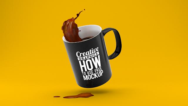 موك اب اكواب ,موك اب كوب قهوة ,موك اب كوفي ,mug mockups free ,mug mockup free download ,Mug mockup free PSD ,Black mug mockup Free