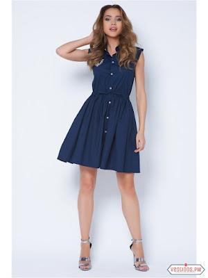 Vestido azul barato