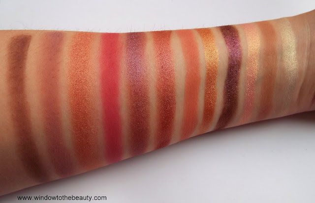 Nabla eyeshadow palette swatches