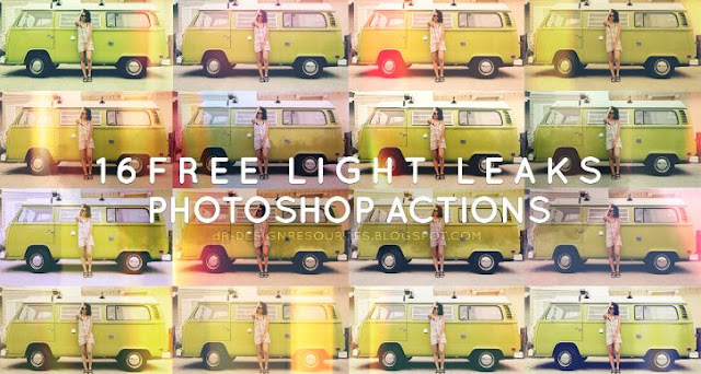 16 Free Light Leak Photoshop Actions