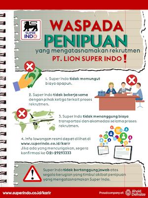 Kunjungi Website Super Indo https://www.superindo.co.id/. Kemudian Klik Di bagian Karir