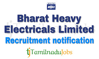 BHEL Recruitment 2018, govt jobs for ITI