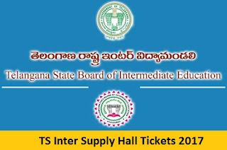 TS Inter Supply Hall Tickets 2017