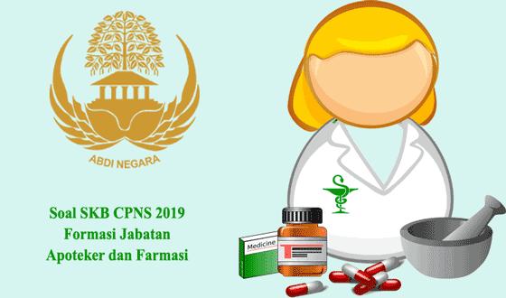 contoh soal skb cpns 2019 formasi jabatan apoteker dan farmasi