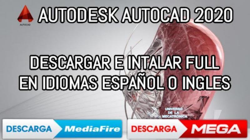 Descargar autocad 2020 Mega mediafire