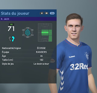 PES 2019 Faces Ryan Jack by TiiToo Facemaker