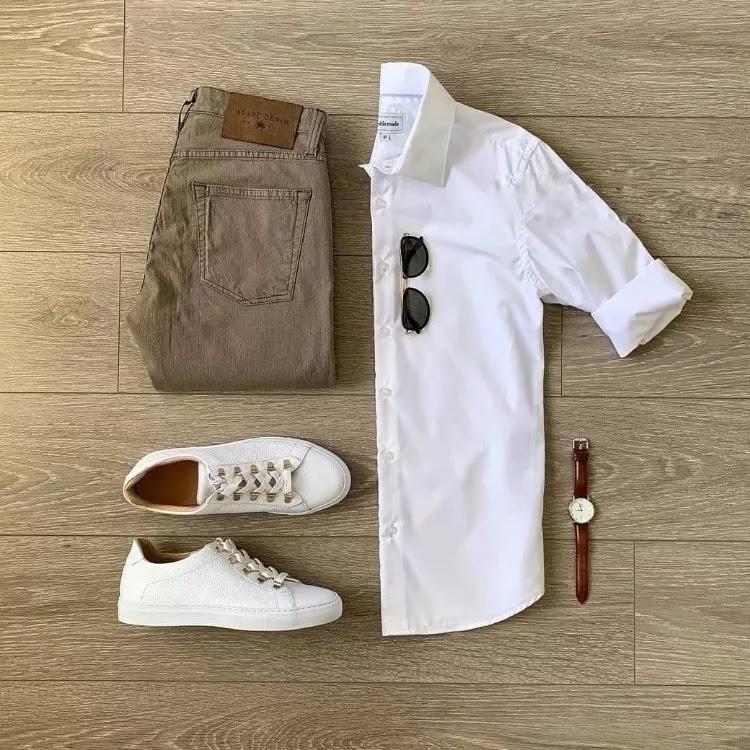 White with beige