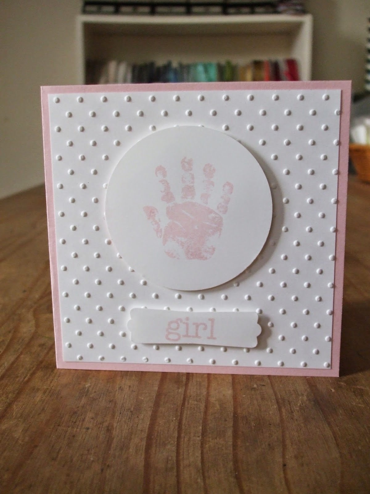 Baby Cards, Stampin' Up! Perfect Polka Dots, embossing folder