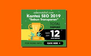 Kontes SEO Sabun Transparan ADEV Natural