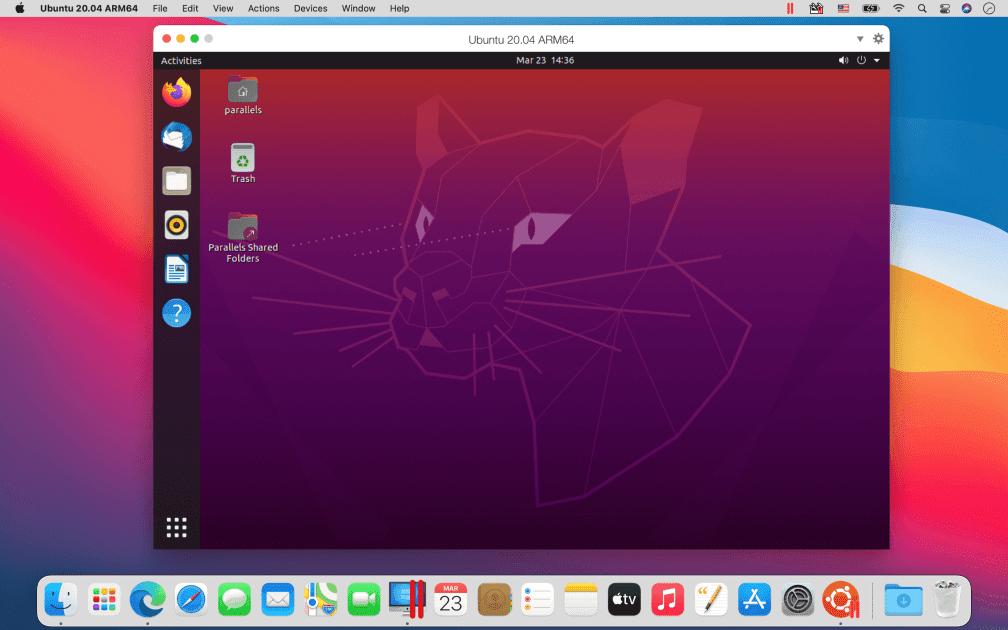 Ubuntu running in Parallels Desktop on a M1 Mac