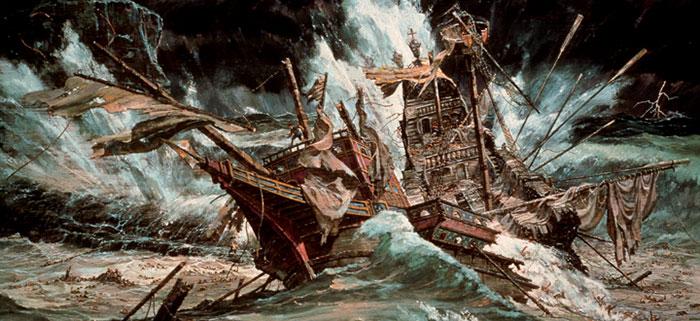 Badai yang Memporak Porandakan Armada Spanyol