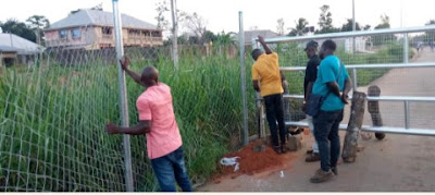 Anambra Builds Border Gates To Block Entrance From Neighboring States (Photos)