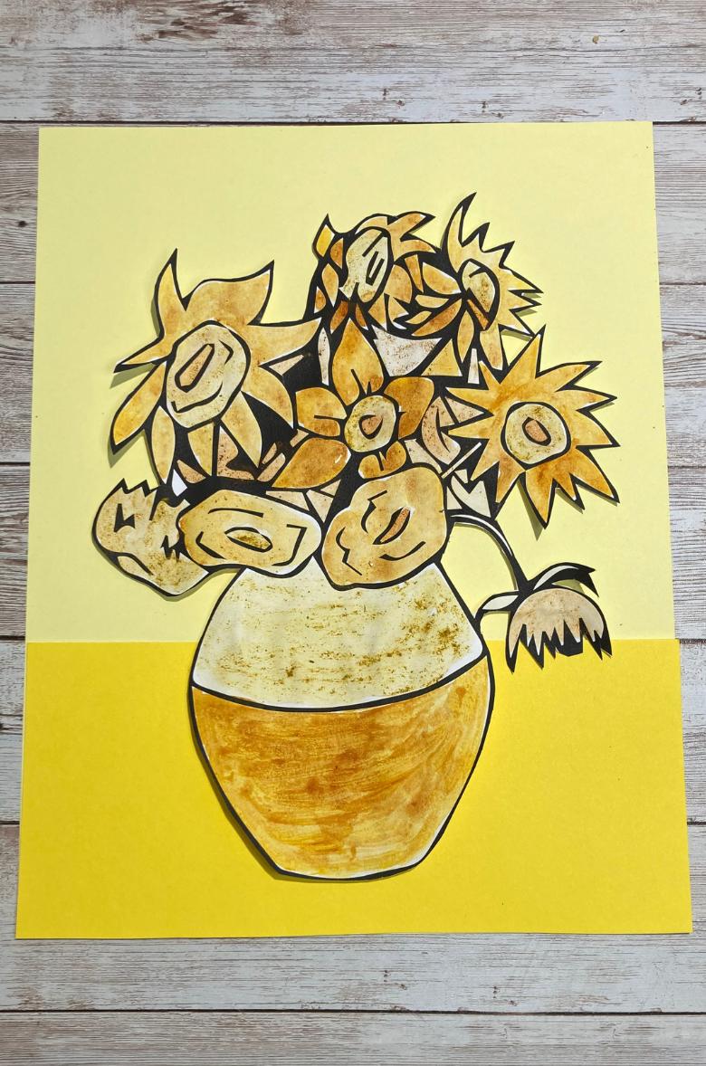Van Gogh sunflowers for kids