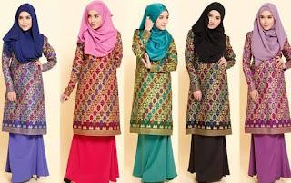 Foto Fashion Baju Batik Songket Sarawak Trend Model Terbaru
