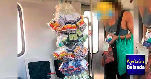 Vendedor é flagrado vendendo hidroxicloroquina dentro de trem na Baixada