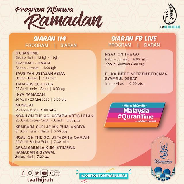 TV AlHijrah Memperkenalkan 12 Rancangan Baru Sempena Ramadan Tahun Ini