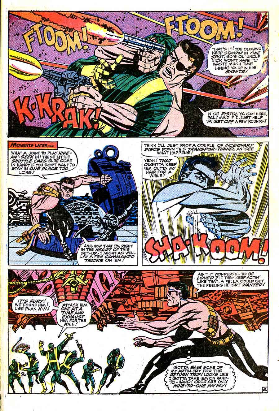 Strange Tales v1 #157 nick fury shield comic book page art by Jim Steranko