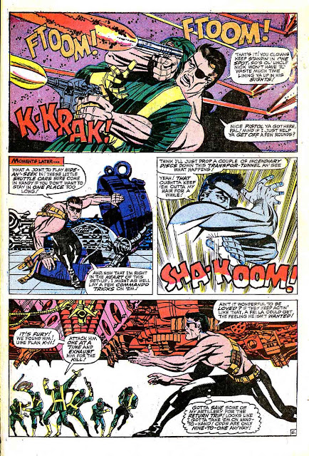 Strange Tales v1 #157 nick fury shield comic book page art by Jim Steranko