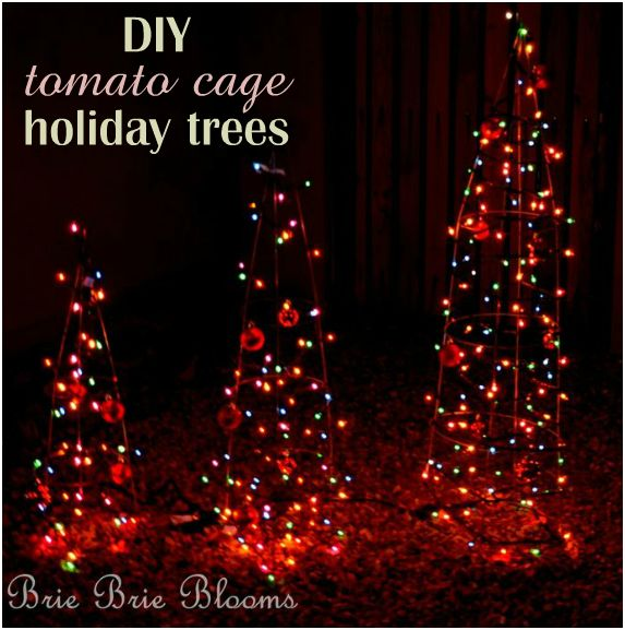 Tomato Cage Christmas Tree.Tomato Cage Holiday Trees Brie Brie Blooms
