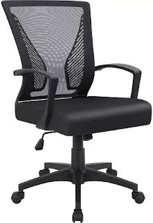 Swivel Lumbar Support Desk Modern Ergonomic Chair for office