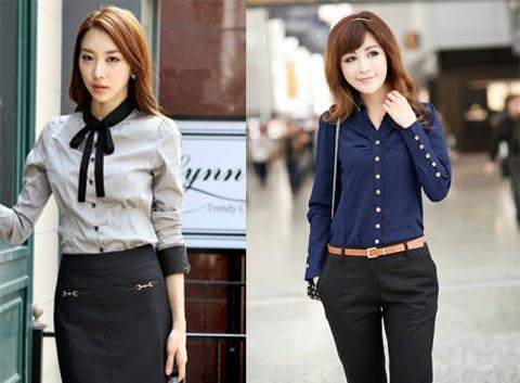model baju kemeja korea
