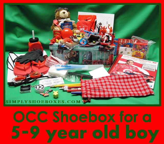 5 to 9 year old OCC shoebox