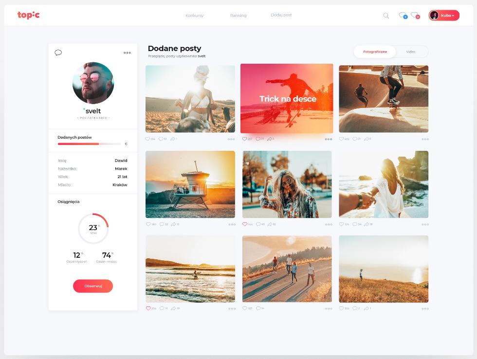 Web design example by Montserrat Font