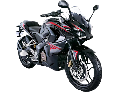 Bajaj Pulsar RS 200 Black Right side front view Image