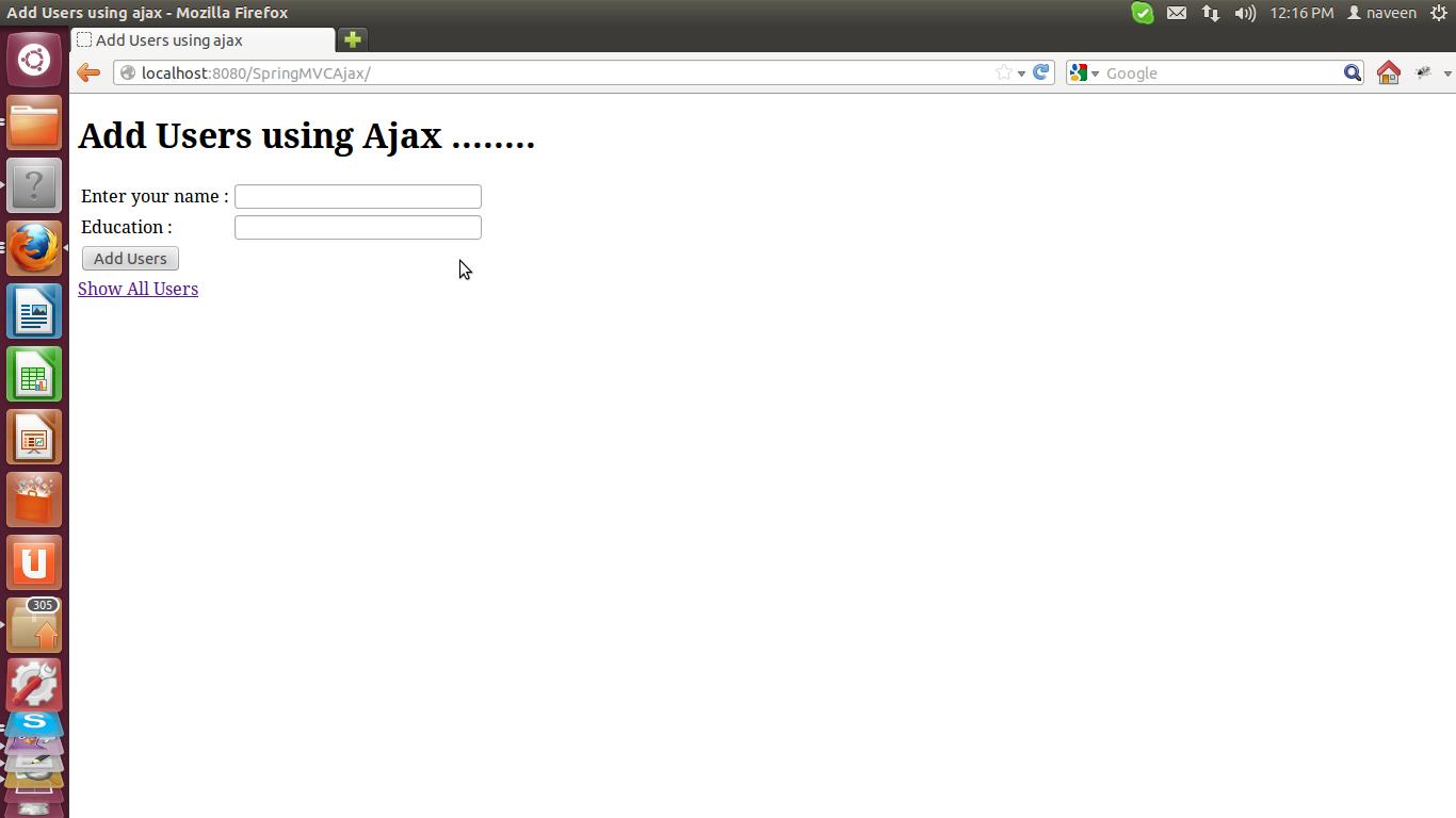 Spring MVC Ajax Tutorial ~ Online Java Papers