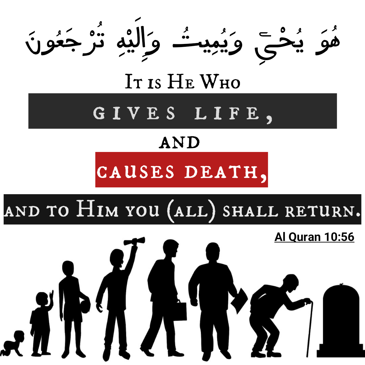 He gives life and causes death, and to Him you will be returned