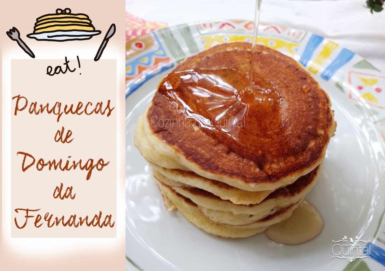Panquecas de Domingo da Fernanda na Cozinha do Quintal