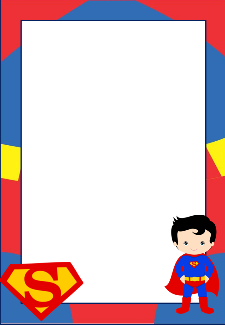 Free Printable Superman Invitations,Cards or Labels. - Oh My Fiesta ...