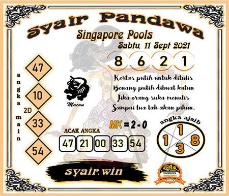 Syair Pandawa SGP Sabtu 11-Sep-2021