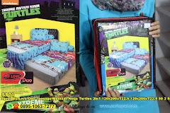 Sprei My Love Duo Teenage Muntant Ninja Turtles 2in1 120x200xT22,5 120x200xT22,5+50 2 Sarung Bantal 2 Sarung Guling Biru Merah Ungu Kartun Anak Remaja