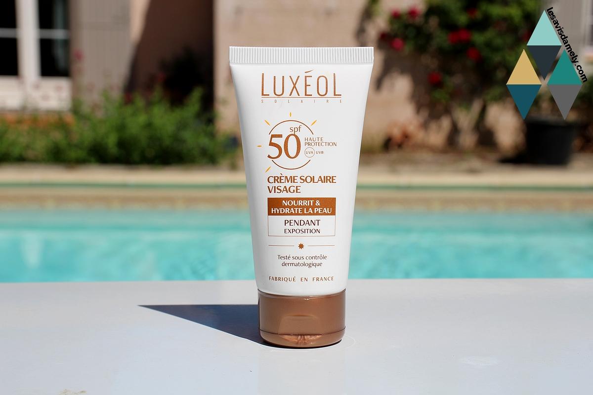 avis crème solaire visage spf 50 luxéol