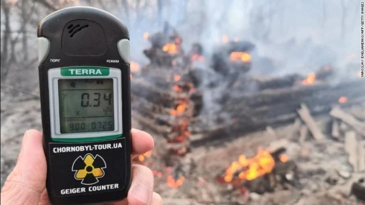 Se desata incendio forestal en Chérnobil y aumentan peligrosamente los niveles de radiación