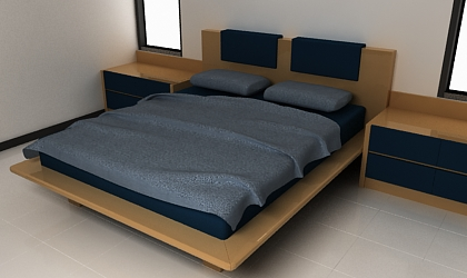 Free 3ds max model bed free 3d model for 3ds max bed model