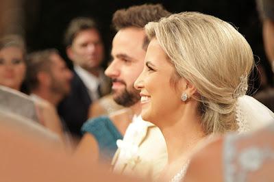 Os noivos Laís e Francisco (Crédito: Gabriel Gabe/SBT)