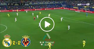 ملخص اهداف مباراة ريال مدريد وفياريال 2-2   (03/01/2019)