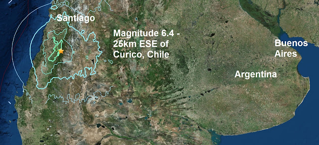 A mag 6.4 - 25km ESE of Curico, Chile Untitled