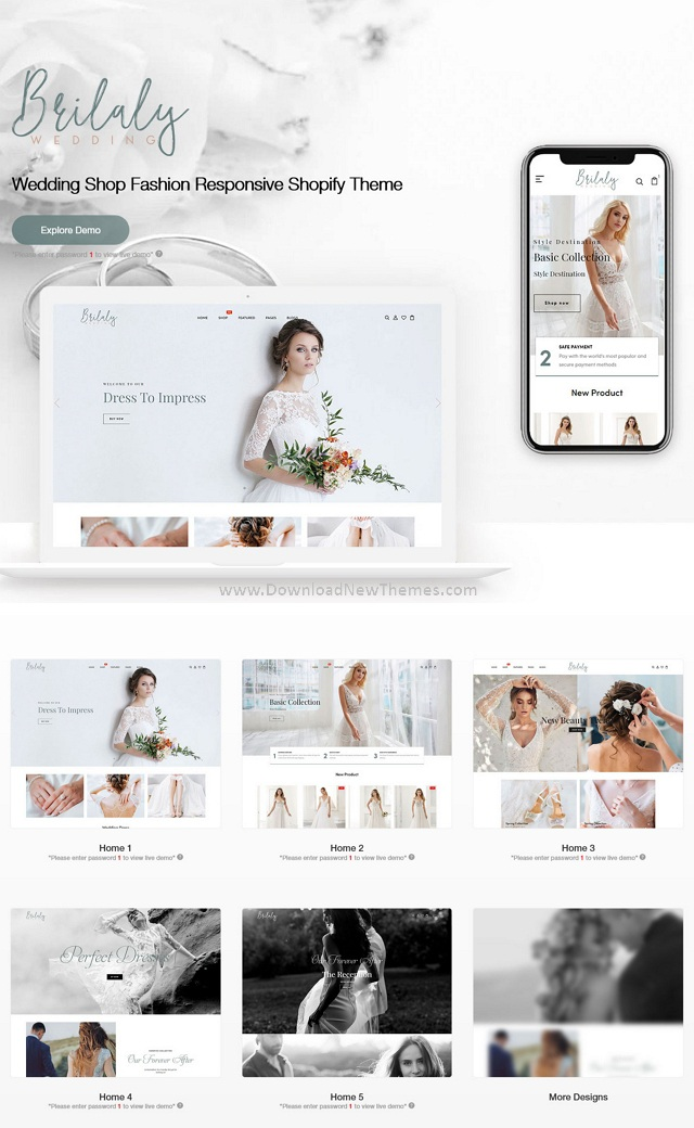 Wedding Shop Fashion Responsive Shopify Theme