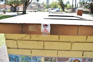 Strathfield Public Art   Mosaic BBQ by artist Diamando Koutsellis